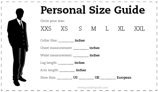 personal size guide