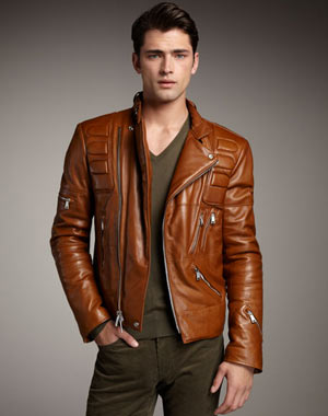 Motorcycle jacket: Available from Neiman Marcus
