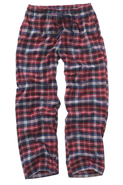 next red check long bottoms